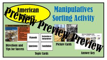 American History Manipulative Sort Activity