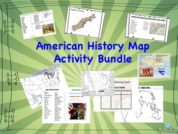 American History Map Activity Bundle