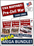 American History Bundle -  1607 to 1860 -  235+ Pages and