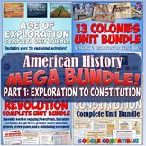 American History Mega Unit Bundle Part 1 - Colonies to Jackson