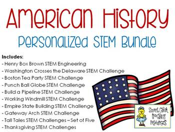 American History PERSONALIZED STEM Bundle
