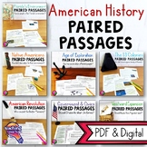 American History Paired Reading Passages BUNDLE: Informational & Opinion Writing