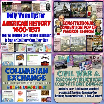 American History Part 1: Complete Curriculum Digital Download