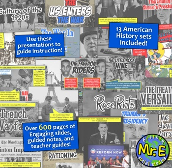 American History Part 2 | Guided Notes and PowerPoint Bundle: 13 total sets!
