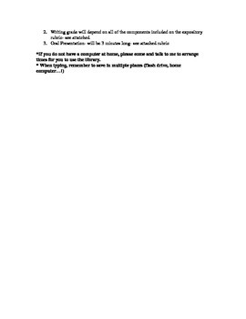 American History Person Research Project Paper EDITABLE
