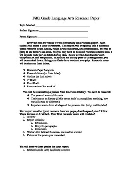 American History Person Research Project Paper