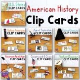 American History Pick 'n Flip Clip Cards Review Activity BUNDLE
