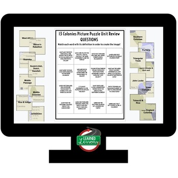 American History Picture Puzzle Unit Review, Study Guide, Test Prep BUNDLE