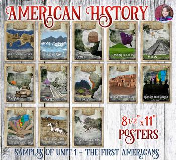 American History Events Poster Set Bundle