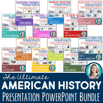 American History PowerPoint Presentation Bundle
