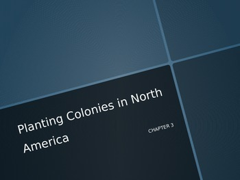 American History Powerpoint Planting Colonies in North America