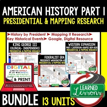 American History Presidential, Mapping Research (Print, Di