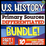 American History Passages Primary Source Bundle: 100 DIFFERENTIATED Warmups
