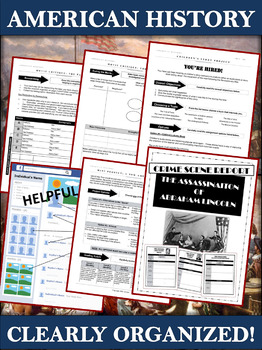 American History Projects and Assignments Bundle - 45 Engaging Activities!
