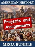 US History Projects and Assignments Bundle - 45 Engaging A