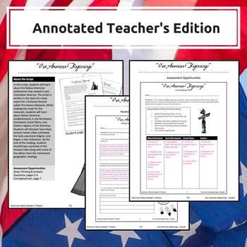 American History Reader's Theatre - Our American Beginnings Sample Product