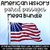 American History Reading Comprehsion Paired Passages {Mega Bundle}