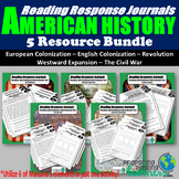 American History Reading Responses Bundle
