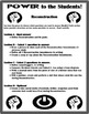 Reconstruction - Power to the Students Differentiation Activity