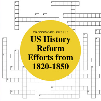 American History: Reform Efforts in the U.S. from 1820-1850