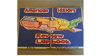 American History Review Lapbook Title Page
