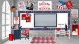 American History Room Bitmoji Classroom/Memorial Day/Patri