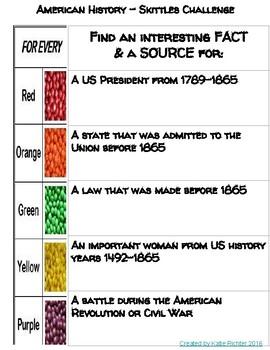American History Skittles Challenge!