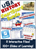 American History Smartboard Review Activities - 100 + Slides! CLEARANCE