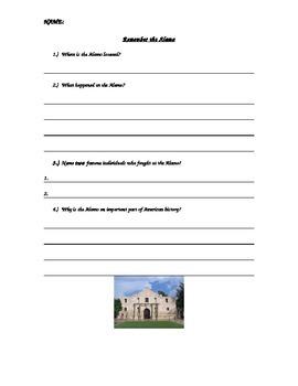 American History Social Studies Remember The Alamo Formati
