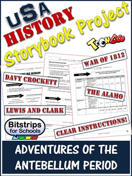 American History Storybook Project - Lewis and Clark, Davy Crockett and more!