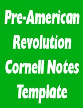 Pre-American Revolution Student Notes