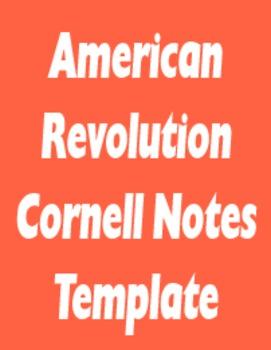 American Revolution Student Notes