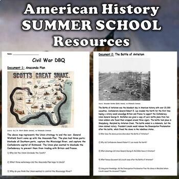 American History Summer School Curriculum (US History)