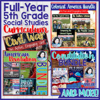 American History Super Bundle- Perfect for 5th Grade- 5 Amazing Bundles in One!
