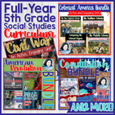 5th Grade Social Studies Full-Year Curriculum Bundle