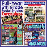 5th Grade Social Studies Full-Year Bundle