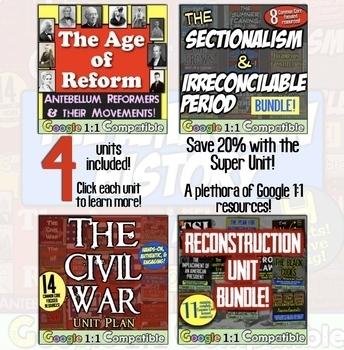 American History Super Unit - Version 3/4: (1835-1877) 4 Units! Save Over 20%!