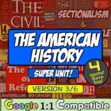 American History Super Unit Version 3/4: (1835-1877) 4 Unit Bundle! Save 20%!