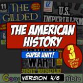 American History Super Unit Version 4/6: (1877-1919)   3 US History Units!