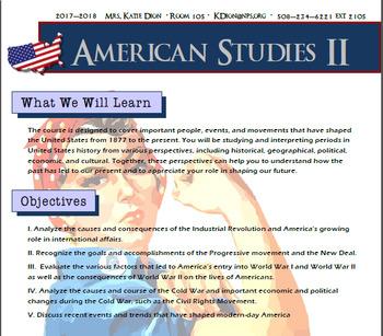 American History Syllabus