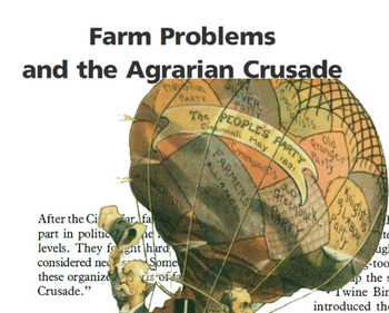 American History-The Agrarian Crusade - Progressive Movement