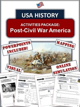 Post-Civil War Era and Westward Expansion Package: 10 Pages of Learning!