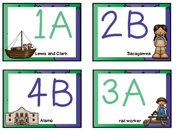 American History Themed - Cooperative Learning Desk Tags