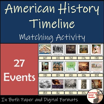 American History Timeline Matchup - 27 Events: 1607-2001 -
