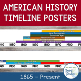 American History Timeline Posters (1865-Present)