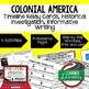 American History Bundle Timeline Relay & Writing Colonial
