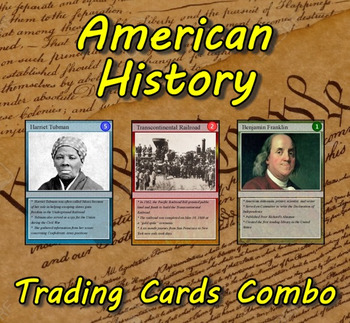 ddbcac73f American History Trading Cards Combo by Technology Integration Depot