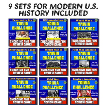 American History Trivia Challenge PART 2 Bundle: 9 Sets for Early U.S. History!