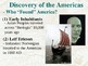 American History Unit 1: Discovery and Colonization