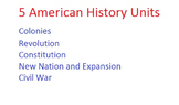 American History Units/Course: 5 Units (1607-1865)